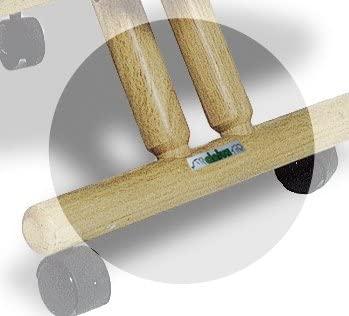 dettaglio piede sedia ergonomica naturale senza schienale-01