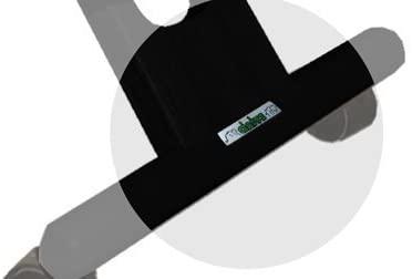 dettaglio piede sedia ergonomica nera con schienale-01