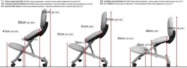 misure sedia ergonomica naturale con schienale-01