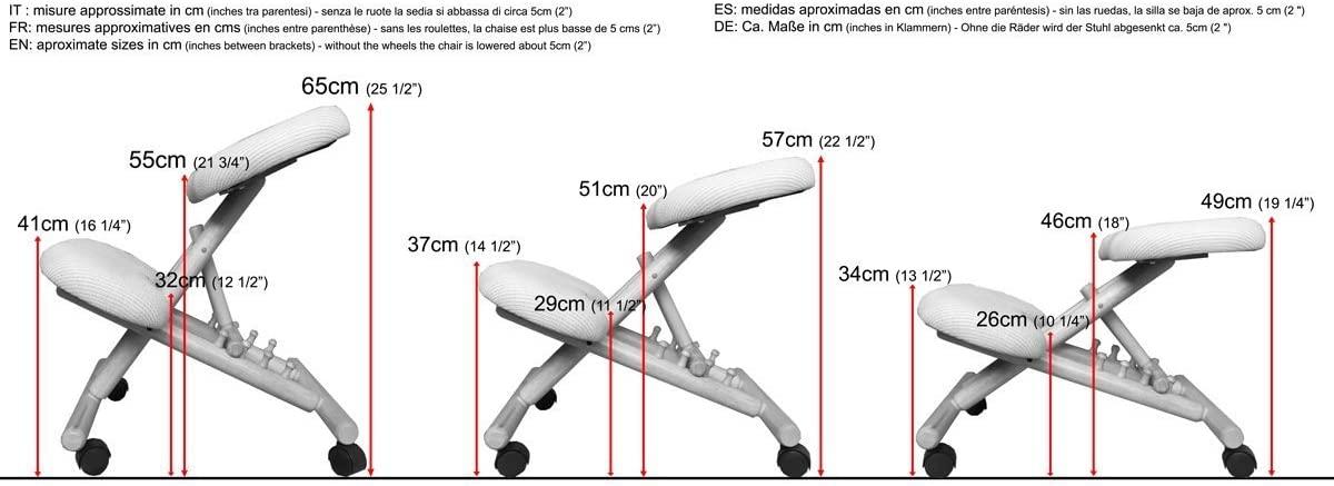 misure sedia ergonomica naturale senza schienale-01