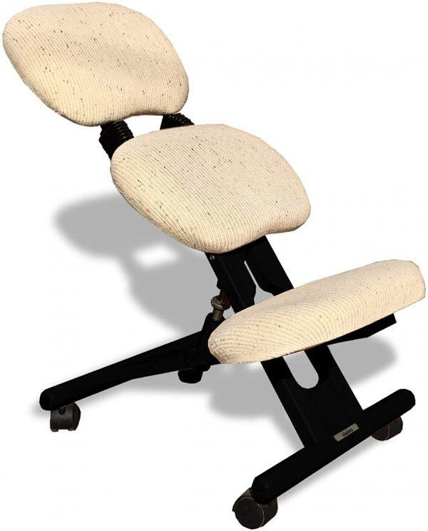sedia ergonomica nera-beige con schienale-02